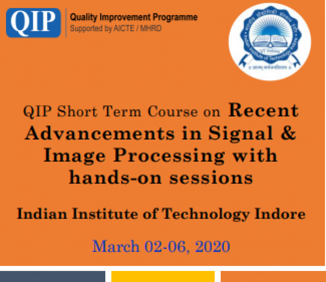 Recent Advancements in Signal & Image Processing with hands-on sessions