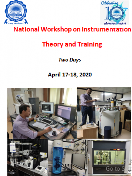 National Workshop on Instrumentation Theory and Training
