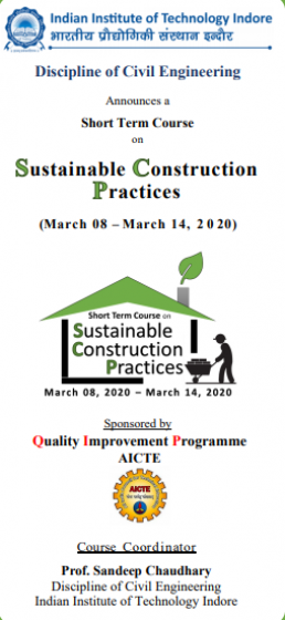 Short Term Course on Sustainable Construction Practices