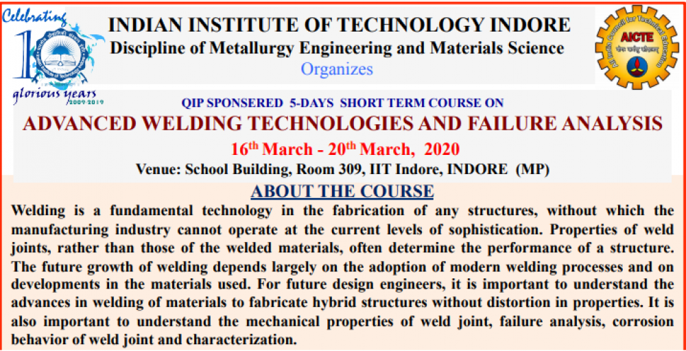 Advanced Welding Technologies and Failure Analysis