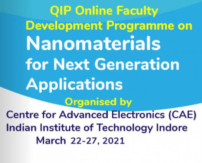 QIP Sponsored Online Faculty Development Programme on