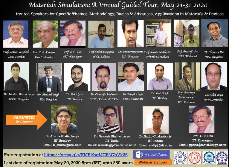 Webinar Series on  Materials Simulation: A Virtual Guided Tour