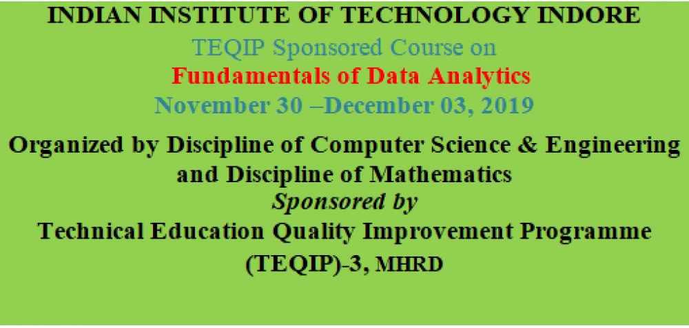 Fundamentals of Data Analytics Under TEQIP-III