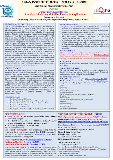 5-Days Active Learning Course on