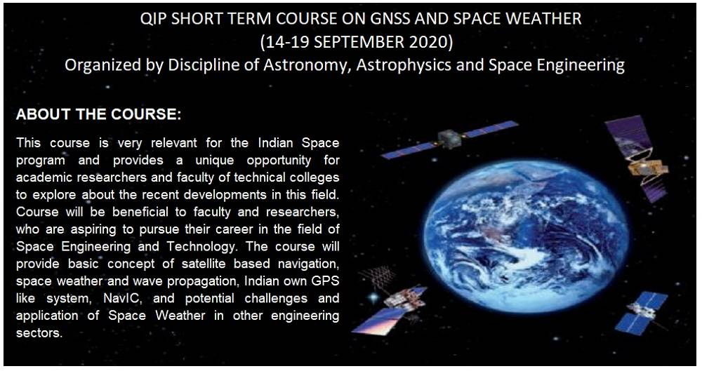 QIP SHORT TERM COURSE  ON  GNSS AND SPACE WEATHER